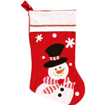 Felt Snowman Christmas Stocking 17in