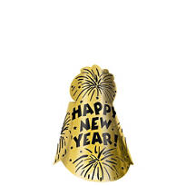 Gold Foil New Years Cone Hat
