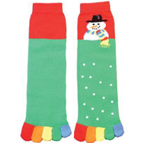 Snowman Toe Socks
