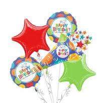 Happy Birthday Balloon Bouquet - Birthday Fever Fun