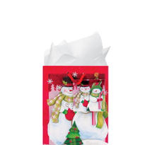 Small Snow Couple Gift Bags 5 1/2in 12ct
