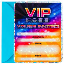 VIP Pass Invitations 8ct