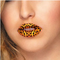 Leopard Lip Tattoos