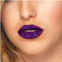 Violet Glitter Lip Tattoos