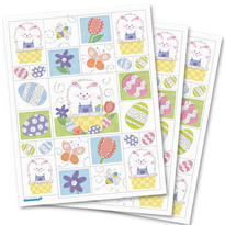 Easter Bunny Hug Glitter Stickers 3 Sheets