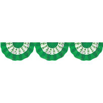 St. Patricks Day Shamrock Bunting 16in