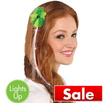 Light-Up St. Patricks Day Hair Extension