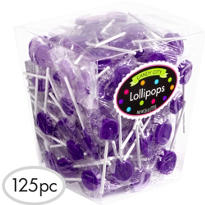 Purple Lollipops 125pc