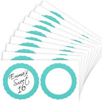 Robin Egg Blue Favor Sticker Labels 20ct