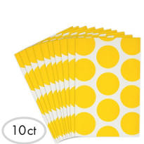Yellow Dot Paper Favor Bags 10ct