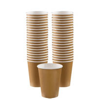 Gold Paper Coffee Cups 40ct