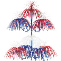 Foil Patriotic Firework Decoration 20in