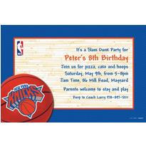 New York Knicks Custom Invitation