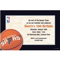 San Antonio Spurs Custom Invitation