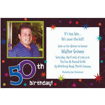 The Party Continues 50th Birthday Custom Photo Invitation