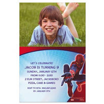 Spider-Man Custom Photo Invitation