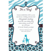 Blue Safari Custom Invitation