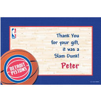 Detroit Pistons Custom Thank You Note