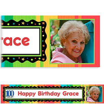 A Year to Celebrate 100 Custom Photo Banner 6ft