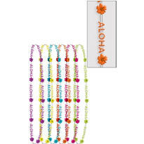 Aloha Bead Necklaces 6ct