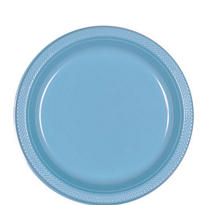 Powder Blue Dinner Plates 20ct