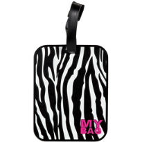 Zebra Stripe Luggage Tag