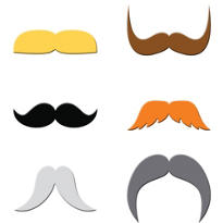 Dapper Moustache Drink Markers 6pc