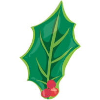Christmas Holly Balloon 26in