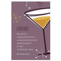 New Years Party Cocktail Custom Invitation
