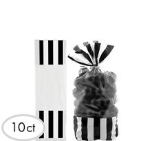 Black Striped Favor Bags 10ct