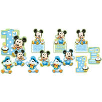 Mickey Mouse 1st Birthday Cutouts 12pc