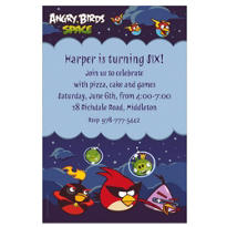 Angry Birds Space Custom Invitation