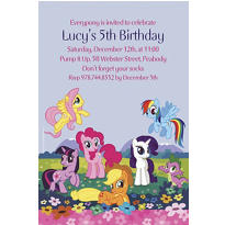My Little Pony Friends Custom Invitation