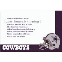 Dallas Cowboys Custom Invitation