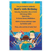Phineas & Ferb Custom Invitation