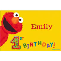 Elmo First Birthday Custom Thank You Note