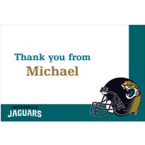 Jacksonville Jaguars Custom Thank You Note