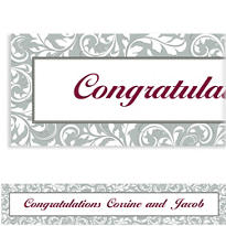 Silver Custom Wedding Banner