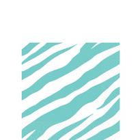 Robin's Egg Blue Zebra Print Beverage Napkins 16ct