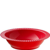 Red Premium Plastic Soup Bowls 24ct