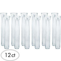 CLEAR Test Tube Shot Glasses 12ct