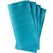 Caribbean Blue Fabric Napkins 4ct