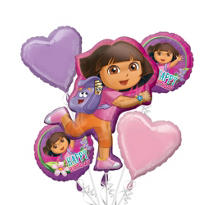Dora the Explorer Balloon Bouquet 5pc