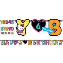 Neon Hello Kitty Birthday Banner 10ft