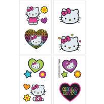 Neon Hello Kitty Tattoos 1 Sheet
