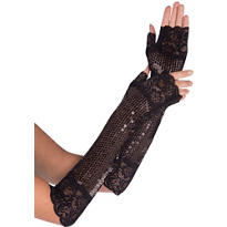 Adult Long Lace Fingerless Gloves