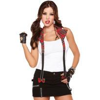 Rebel Red Plaid Halter Suspenders