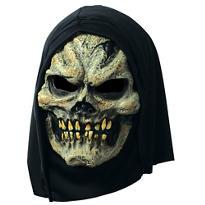 Hooded Plague Skull Mask