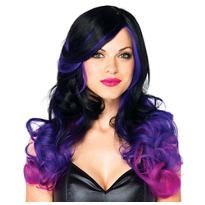 Allure Black and Purple Ombre Wig