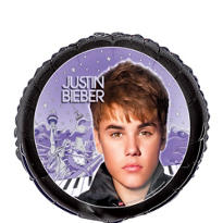 Foil Justin Bieber Balloon 18in